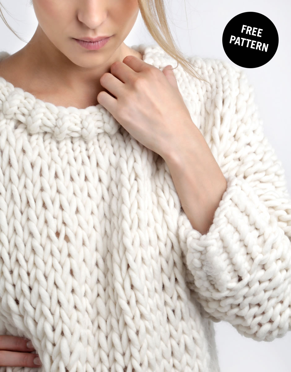 Free Knitting Pattern Mens Chunky Jumper : Free knitting patterns Knitting WOOL AND THE GANG