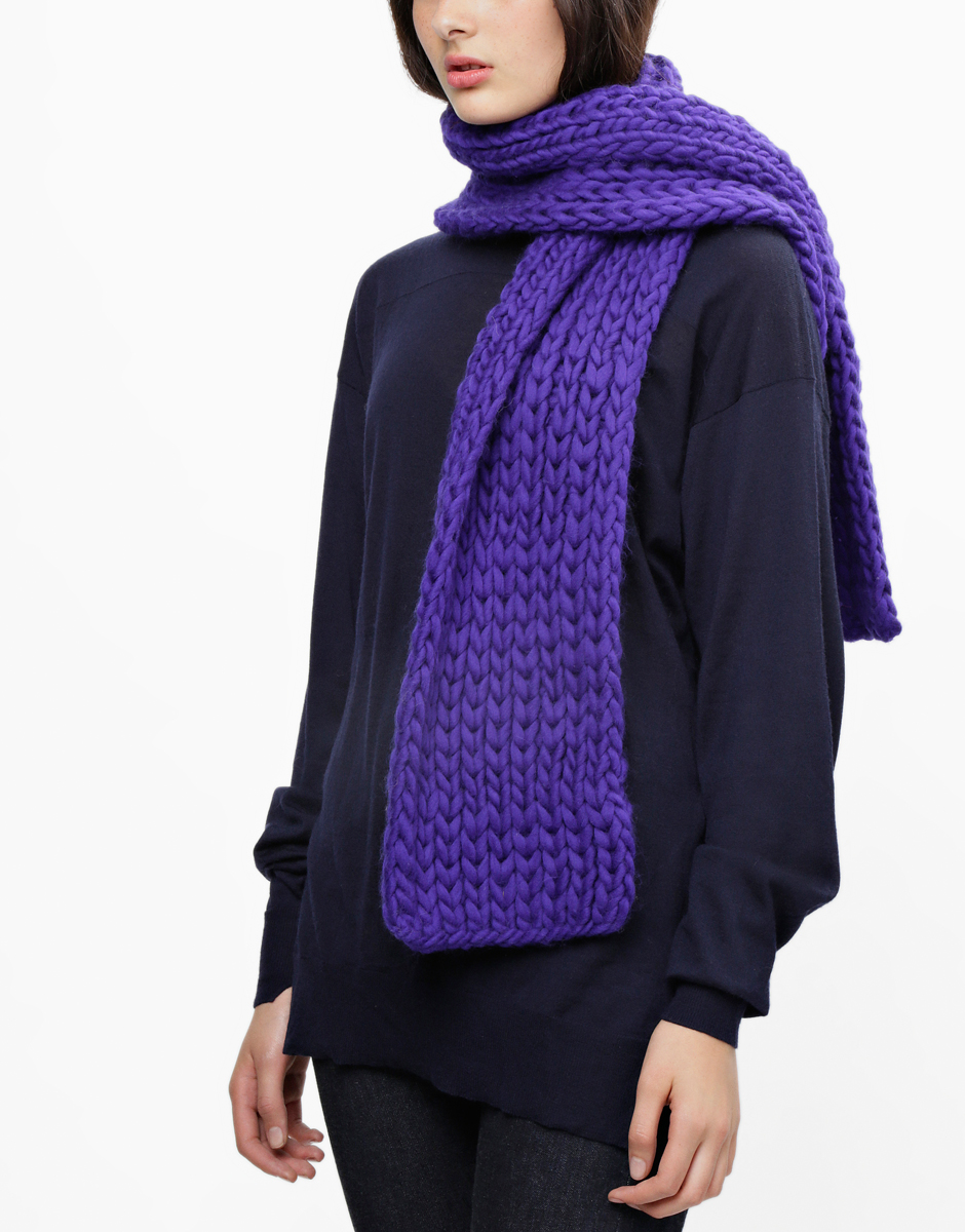 Try knitting the whistler scarf