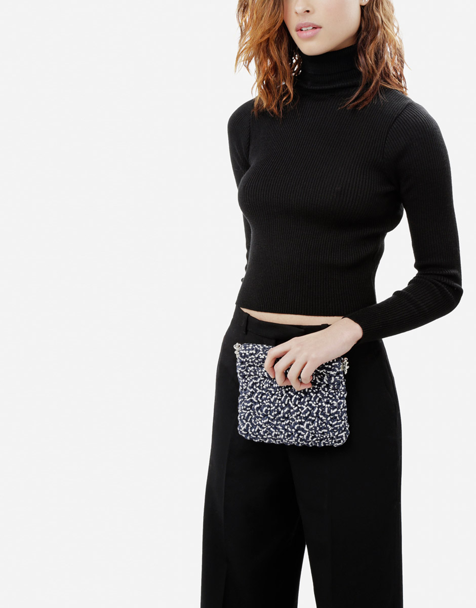 Try knitting the Lil' Hold Tight Clutch